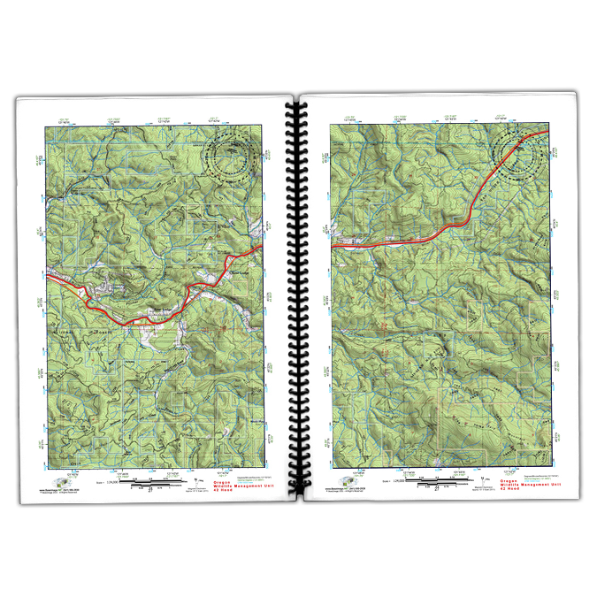 Saddle Mountain Hunting Unit (10) Topographic 11 x 17 | BaseImage ...